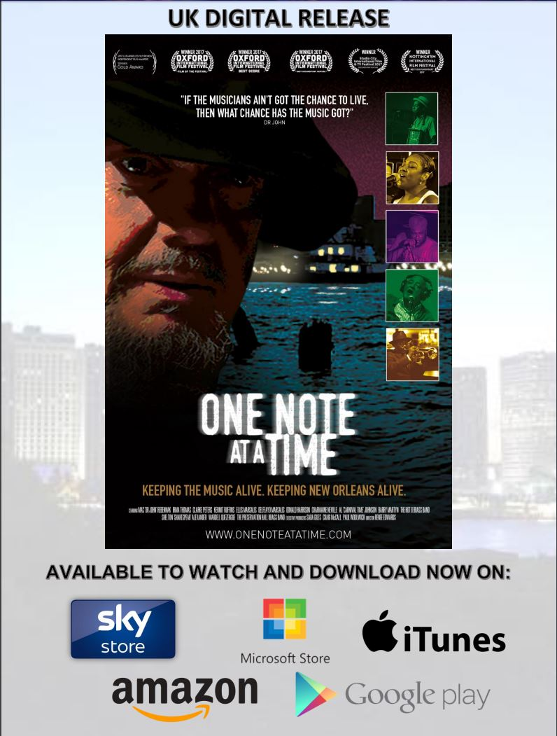 UK DIGITAL RELASE  ONE NOTE AT A TIME NOW AVAILABLE TO WATCH AND